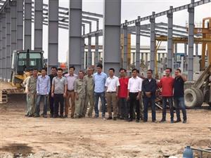 Công ty tâm an đẩy mạnh tiến độ xây dựng và lắp đặt dầy chuyền sản xuất ống cống bê tông đúc sẵn